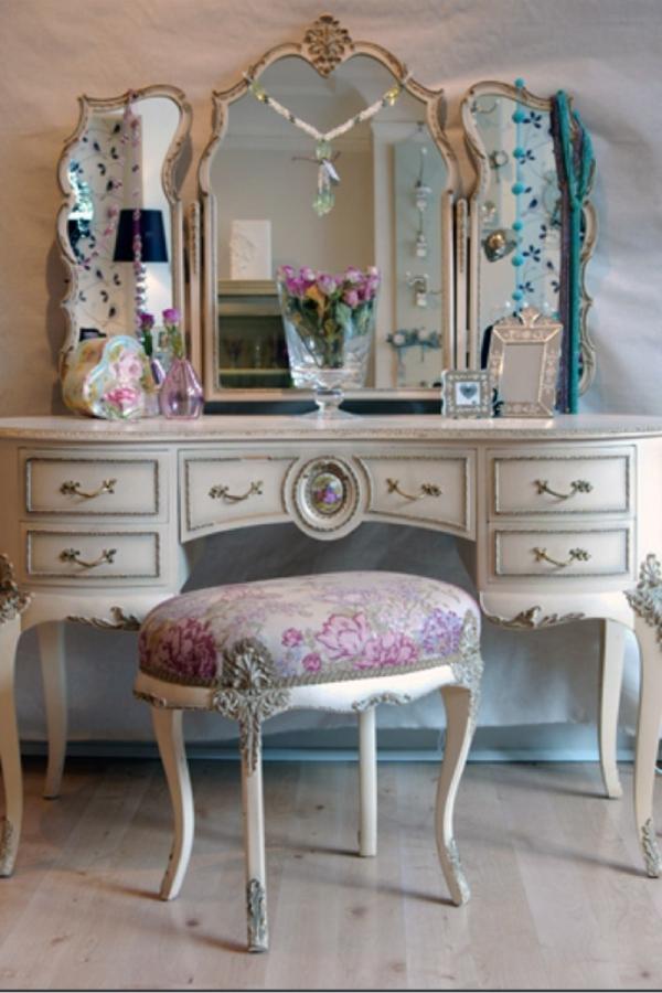 Vintage Look Möbel antikmöbel schminktisch