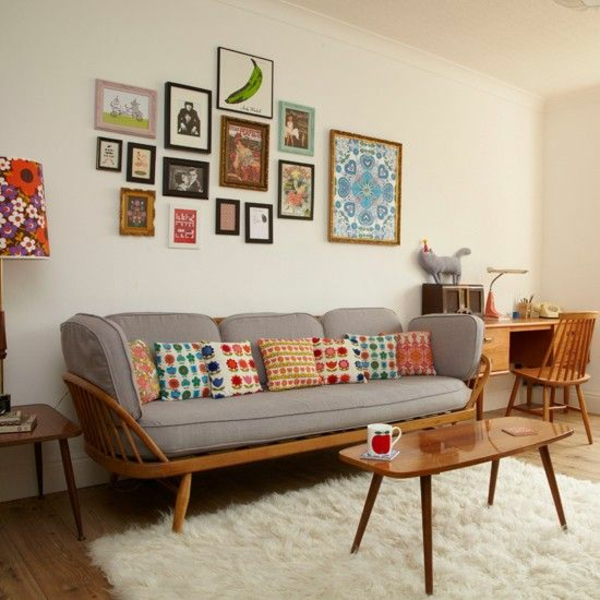 Vintage Look Möbel holz wohnzimmer möbel