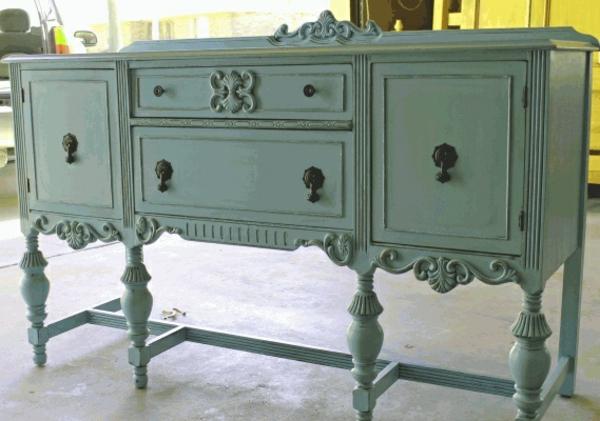 Vintage Look Möbel kommode aus holz schick