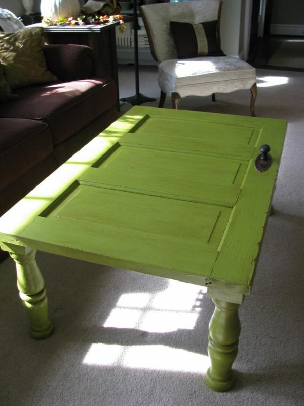 Vintage Look Möbel selber machen wohnzimmertische holztür