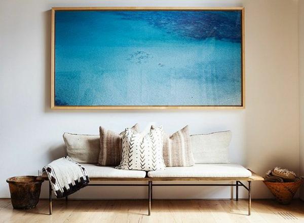 contemporarty stil Malerei blau meer
