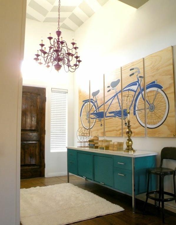 urbaner stil Malerei fahrrad kronleuchter