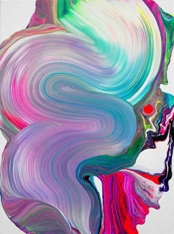 abstrakt bedeutend Malerei farben bunt