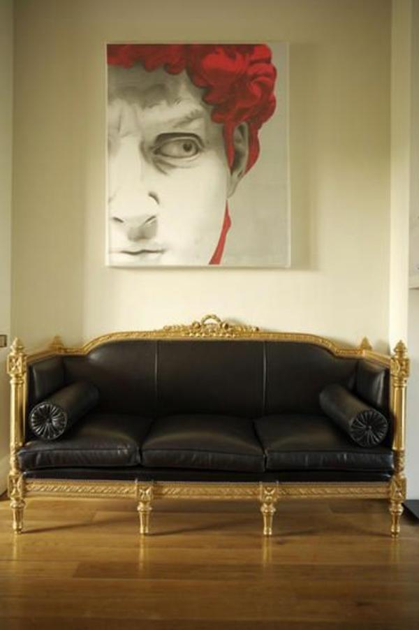 contemporary Malerei klassisch sofa leder