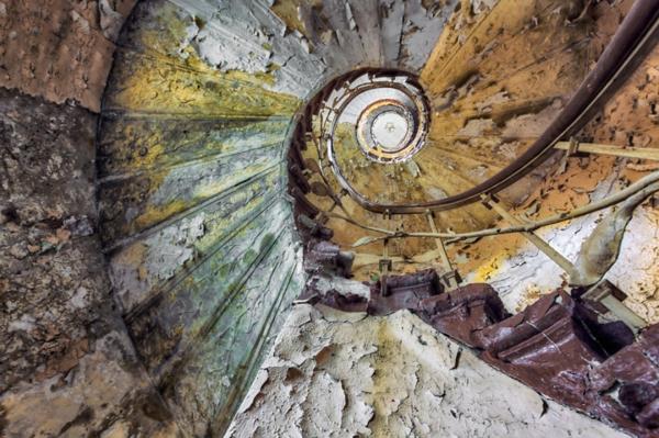 alte treppen spiralenförmig stein