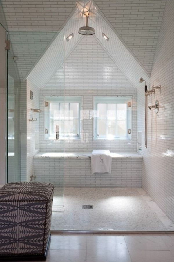 Moderne Fliesen Für Bad Im Dachgeschoss