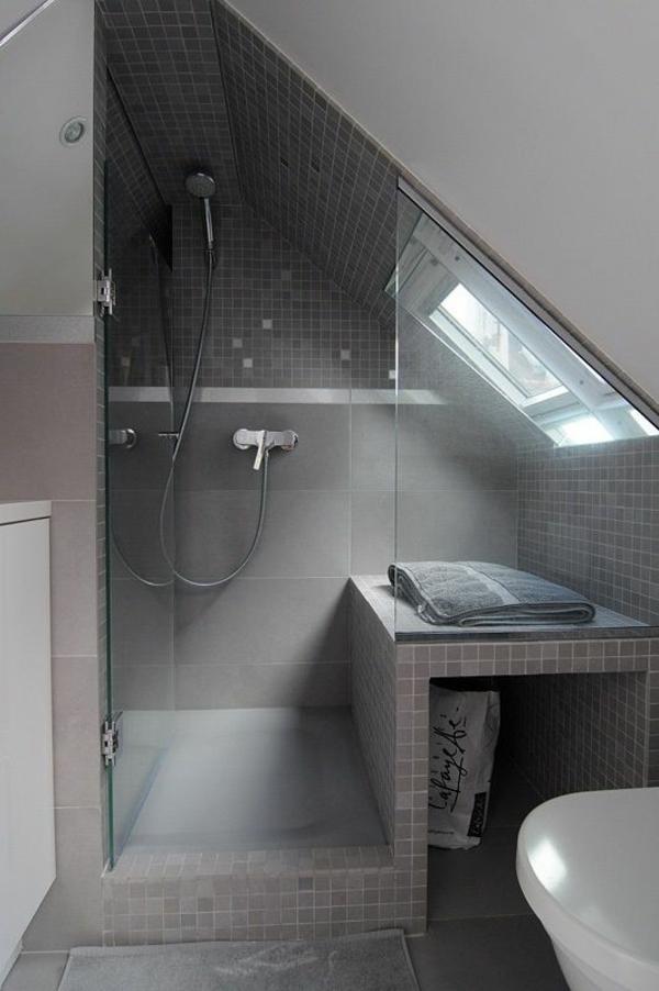 Hervorragend Badgestaltung Dusche Ideen Modern Grau Fliesen