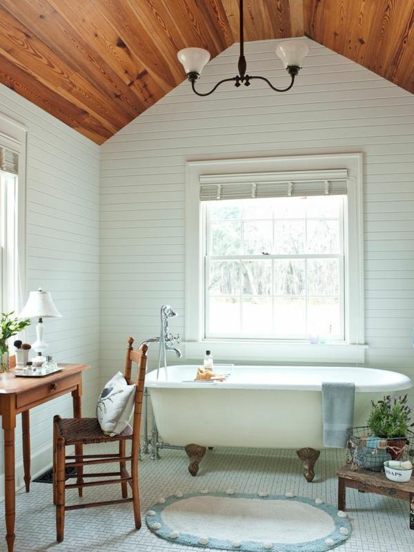 badezimmer gestaltung ideen modern holz zimmerdecke