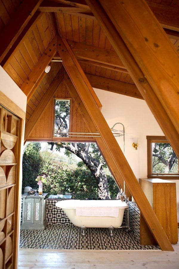 badgestaltung für kleines bad massiv holz ideen modern dach