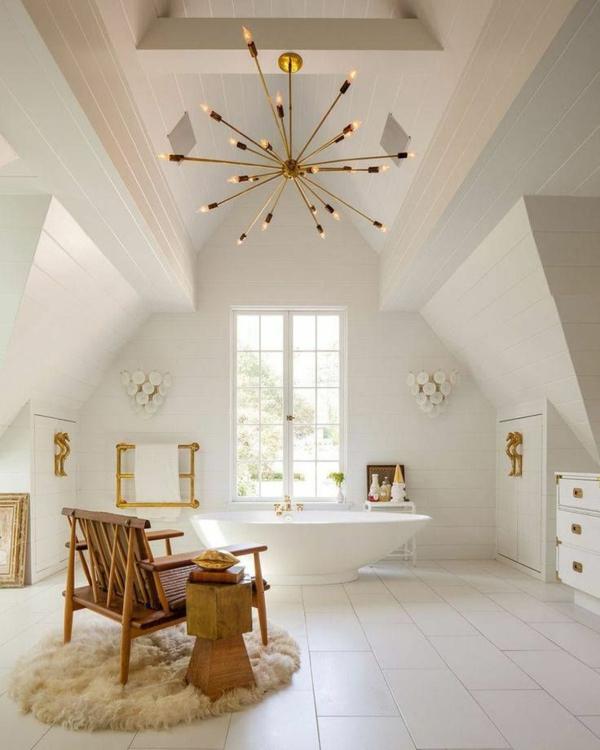 badgestaltung für kleines bad kronleuchter golden ecken architektonisch