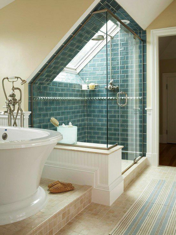 Kunststoff Fliesen Fur Bad : Besonderheiten der Badgestaltung für kleines Bad im Dachgeschoss