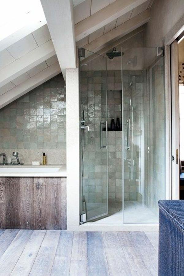 badgestaltung für kleines bad holzplatten