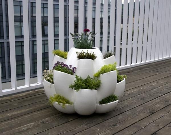 balkon blumenkästen modul weiß