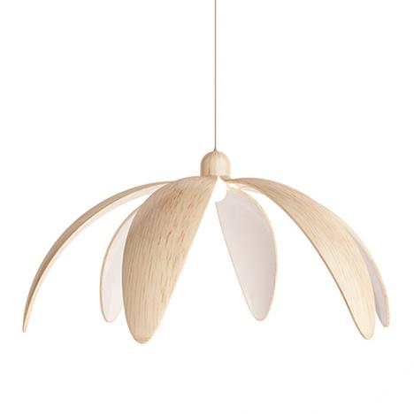 bloom hängelampe pendelleuchte holz lampenschirm
