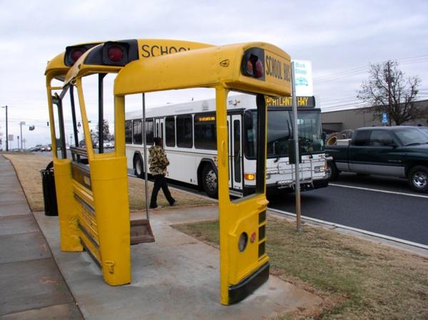 bushaltestellen alter schulbus haltestelle athen georgia