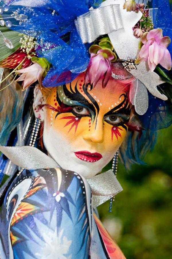 damenkostüme karneval fasching blumen