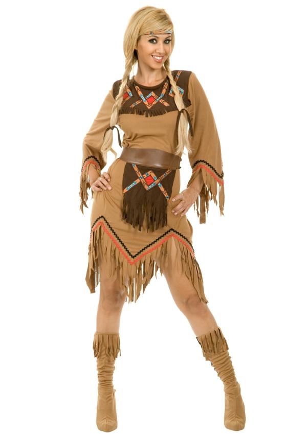 damenkostüme karneval faschingskostüme indianerin