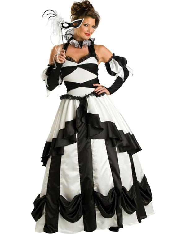 damenkostüme karneval faschingskostüme schwarz weiß
