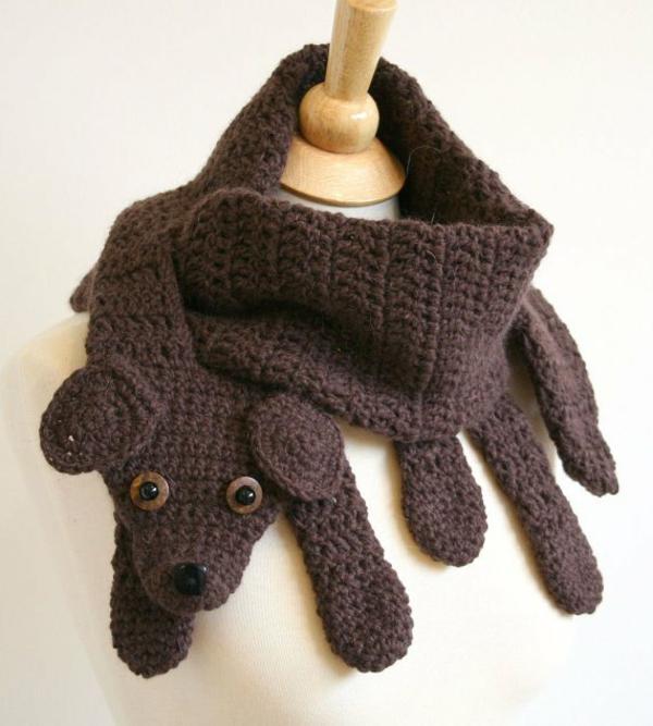 damenschals hund winter accessoires winterschals damen