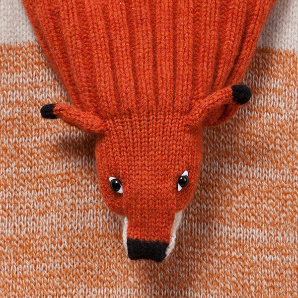 damenschals orange fuchs gesicht winterschals damen