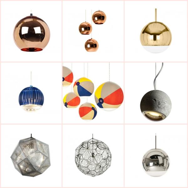 designer lampen kugel pendelleuchten