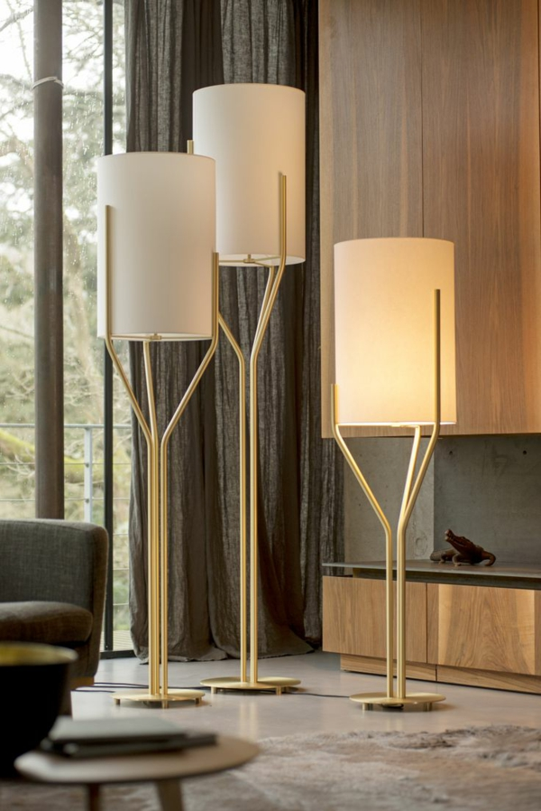 designer stehlampen lampenschirm wohnlicht bäume