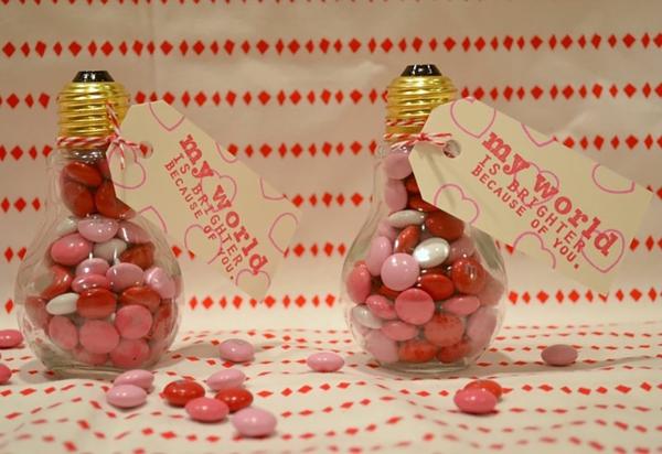alte glühbirnen bastelideen geschenkideen valentinstag