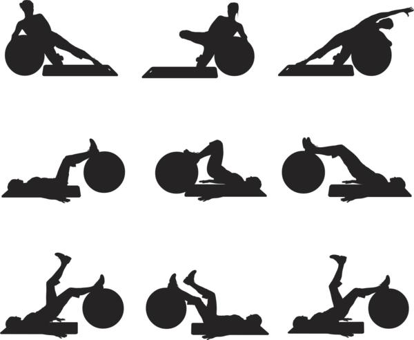 einfache Gymnastikball Übungen trainieren