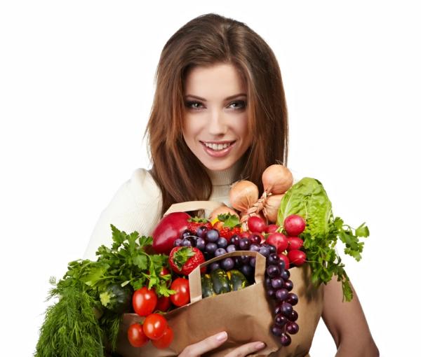 ernährungsplan abnehmen einkaufen gemüse früchte