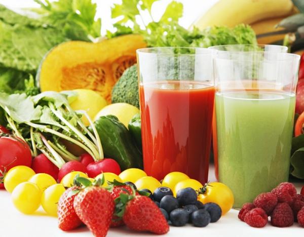 ernährungsplan abnehmen gemüse obst säfte