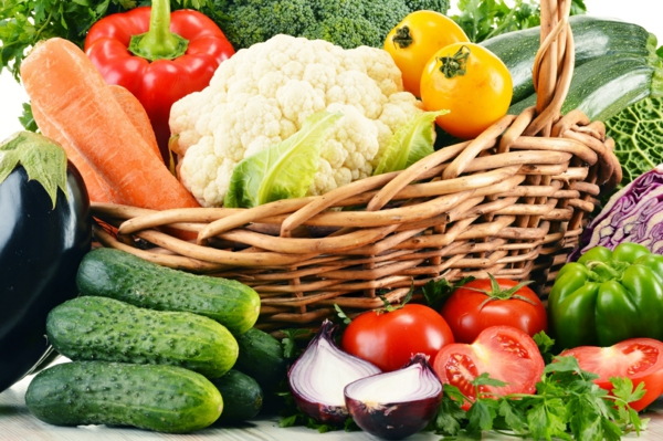 ernährungsplan abnehmen gemüsenkorb
