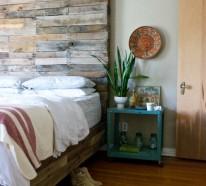 Europalette als Kopfteil – 22 nachhaltige DIY Betten Ideen