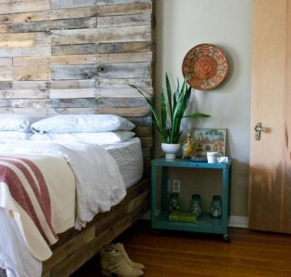 europalette als kopfteil nachhaltige diy betten. Black Bedroom Furniture Sets. Home Design Ideas