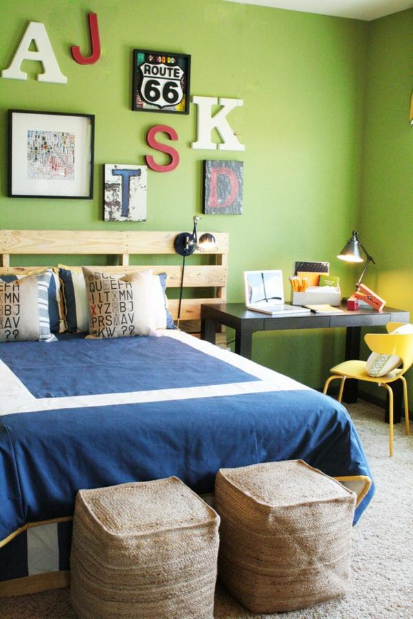 europalette kopfteil schlafzimmer schreibtisch