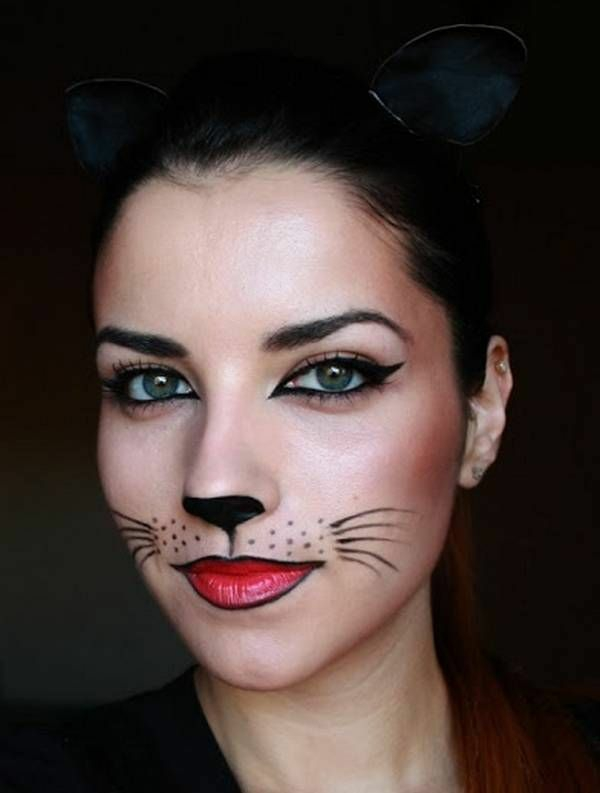 the gallery for halloween simple cat face paint. Black Bedroom Furniture Sets. Home Design Ideas