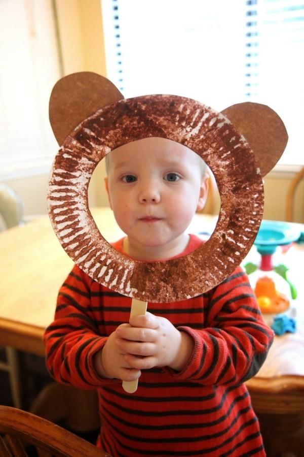 faschingmasken basteln kleinkinder kostüme bär