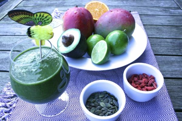 fastenkur limette kürbiskerne avokado