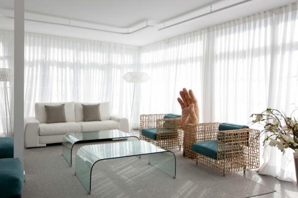 g nstige fertiggardinen mit kr uselband. Black Bedroom Furniture Sets. Home Design Ideas