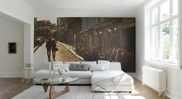 fototapete straße paar sofa