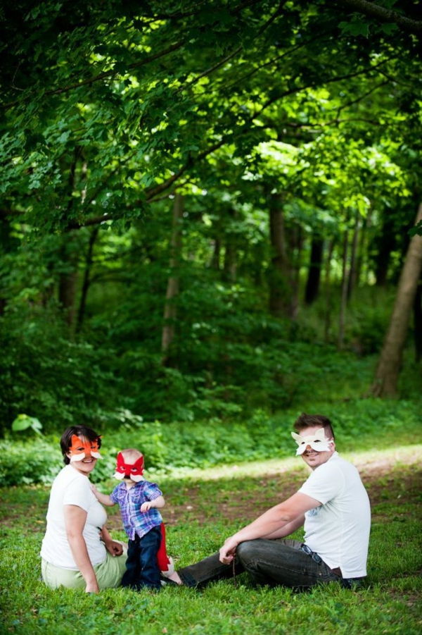 fuchs familie wald fasching kostüme
