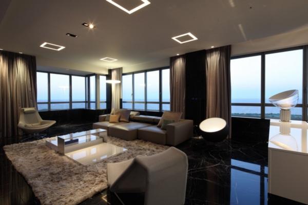 futurismus kunst hochflorteppich wohnzimmer