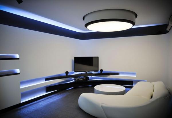 futurismus kunst neon beleuchtung runde deckenlampe