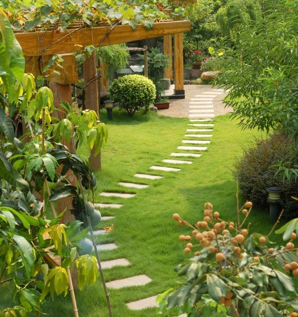 Gartengestaltung beispiele praktische tipps und frische - Gartengestaltung pergola ...