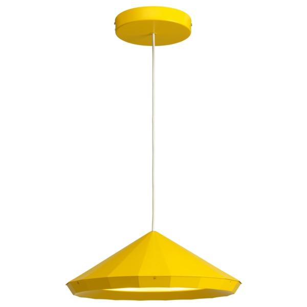 gelbe pendelleuchte frisches design schöne wohnideen