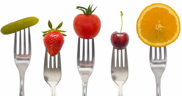 gesünder abnehmen früchte gemüse