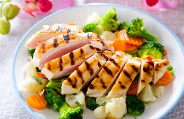 gesünder abnehmen putenfleisch brokkoli