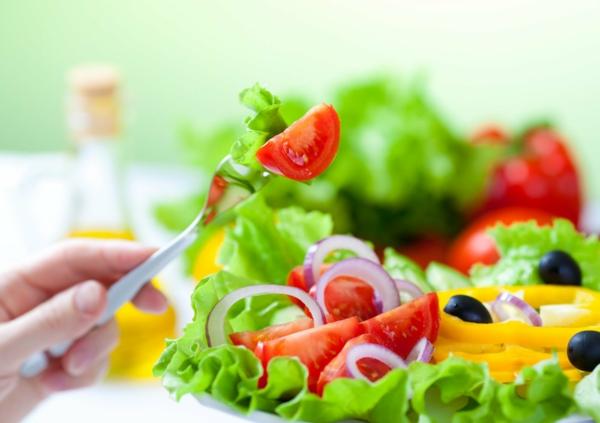 gesünder abnehmen salat gemüse