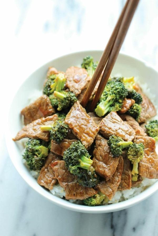 schnelles gesundes mittagessen fleisch frisch