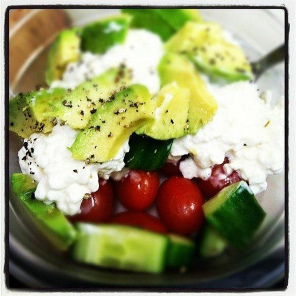 schnelles gesundes mittagessen gurken gemüse