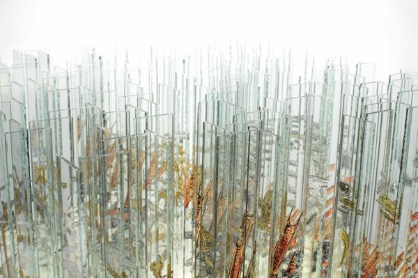 glaskunst fragmente kunst skulptur